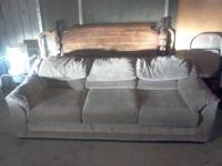 SELLING A GOOD CONDITION SOFA WITH NO TEARS, BROWN IN