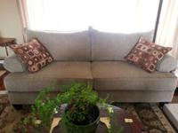 Neutral color sofa, barely used, like new.  Dimensions
