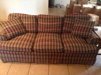 Comfortable sofa for sale. Would be great for den.