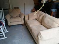 sofa and chair for sale like new 600.00 or best offer