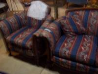 Blue floral sofa and chair Call  Location: Willard