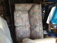 6ft Sofa and love seat, rough fabric texture, southwest