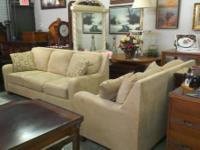 REALLY NICE MICROFIBER SOFA WITH LOVESEAT.  THERE IS A