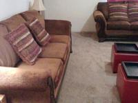 Beautiful sofa and loveseat. Purchased recently less