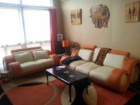 Orange and white leather seating from europe, sofa has