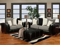 This sofa and loveseat are readily available in gray