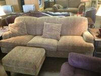Beautiful, comfortable sofa with matching