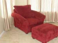 Moving Must Sell!!! Microfiber Burgandy Couch and