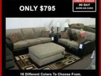 SOFA & LOVE SEAT 16 DIFFERENT COLORS TO CHOOSE FROM