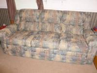 7 ft Lazy Boy Sofa Bed opens to queen size bed used