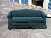 Double bed size sofa bed. Green tweed. Mattress clean.