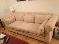 We are offering our sofa with a pullout bed- its used