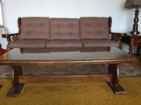 Three seat sofa with individual cushions and matching