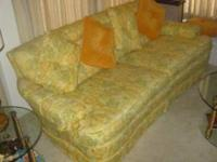 6 foot sofa with matching chair and ottoman in very