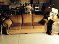 Here is a good quality sofa chair and ottoman for sale.