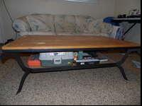 Sofa in good shape, coffee table built to last... any