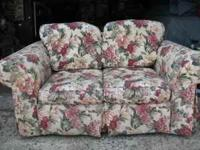 Matching Broyhill sofa and love seat. Sofa measures 88