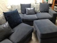 Immaculate, comfortable living room set is in excellent