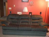 Forrest Green sofa and loveseat. Sofa is great