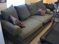 Gently used very comfortable micro-fiber sofa, loveseat