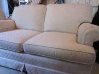 Clayton Marcus Furniture: off white sofa and loveseat