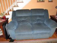 Reclining loveseat and couch with fold down table. Call