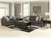 SOFA AND LOVESEAT MODERN NEw 73403 Levon - Charcoal
