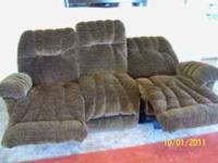 """Best"" brand Sofa w/electric recliners both ends (wall"