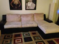 I am offering a mircofiber sectional. It is two years