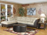 tan microfiber couch No stains, pet free non smoking