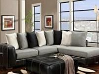 Grey with Black Sectional with Chaise all for $699.95.