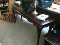 Dark brown sofa table. Price reduced $145.OO to