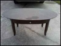 I have a really nice solid wood table for in front of