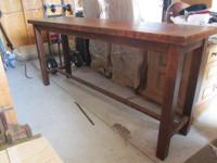 "6' X 32' X 19"" sofa table to display your art or"