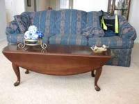 Good condition sofa and beautiful cherry drop leaf