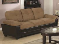 Two Tone Sofa with Under Cushion Storage   MSRP: $919