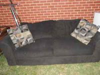 We have a black sofa available for $75.00. It will be