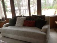SOFA AND LOVE SEAT -  with assorted pillows