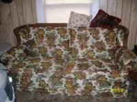 Floral sofa bed, queen size, great shape. Please