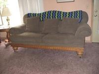 Beautiful sofa, moving and cannot take it. Oak frame.