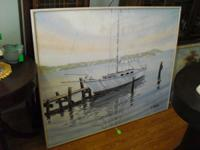 HERE IS A FANTASTIC OIL ON CANVAS PAINTING SIGNED BY