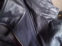 Soft Black Leather Dress Jacket XXL This is a near new
