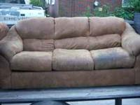 Leather blend sofa couch is very soft, and extremely