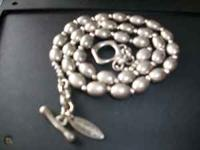 SOHO Designer necklace.Grey Metal Ball necklace.Get a