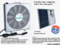 Solar power portable cooling fan. THE BEST FOR ITS