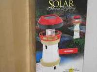 SOLAR LIGHING SETS...BIRDS/FLOWERS ON POLES 2 SETS OF