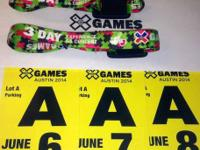 SOLD SOLD SOLD for $200.  TWO wristbands: 3-Day X Games