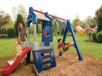 Fresh Little Tikes Club swing set.  Originally markets