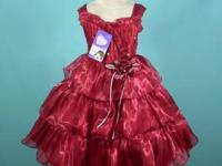 Size 5/6 dark red pageant dress. Comes with padded