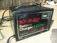 12-Volt, Battery Charger, Sears 2/10 & 50-Amp Boost -